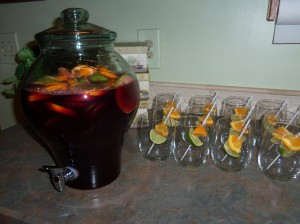 Red Apple Sangria - the finished product