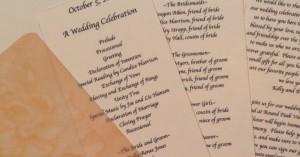 Wedding Program 2