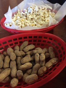 popcorn and peanuts